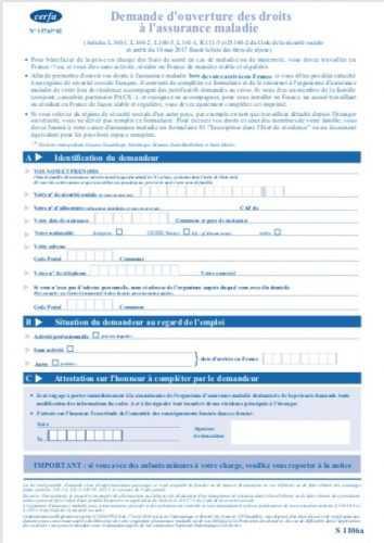 Qui délivre le formulaire s1 ?